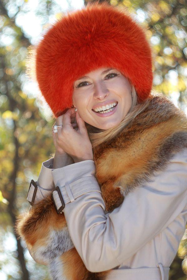 Vörös róka gallér - festett róka kucsma 35f3cad548